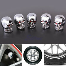 5Pc Skull Tire Tyre Wheel Car Auto Caps Valves Dust Stem Cover Motocycle Bicycle