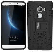 AMZER Black Dual Layer Hybrid Armor Warrior Case Stand For LeEco Letv Le Max Pro