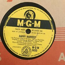 """JUDY GARLAND - If You Feel Like Singing/ Happy Harvest 78rpm 10"""" Shellac Record"""