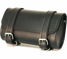Motorcycle Handlebar Bag Pouch Tool Windshield Fork Cargo Ride On Pocket Black