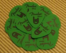 098-7351-850 Rock-On Touring Picks (12) Med/Heavy Genuine Fender Green Delrin