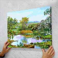 """16"""" x 20"""" DIY Paint By Number Kit Oil Painting On Canvas - Green"""