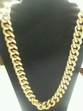 gold large bling costume jewelry necklace size 11 inches long