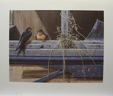 "Glenn OLSON ""Conversation"" LTD art print mint Certificate COA Barn Swallows"