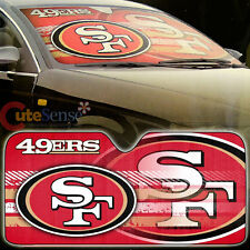 NFL San Francisco 49ers Car Windshield Front Window Sun Shade Auto Accessory