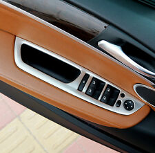 4x Stainless Interior Door Cover Armrest Trim Silver For BMW X6 E71 2009-2014