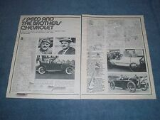 "1975 Chevrolet History Info Article ""Speed & the Brothers Chevrolet"" Frontenac"