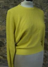 chartreuse STILE BENETTON angora blend slouch sweater XS S