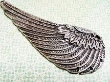 "Large Angel Wing Pendant Connector Silver 100mm Wing Pendant 3.93"" Wing Link"