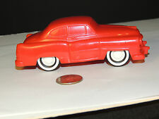 Red Rubber Cadillac Car made in Sweden 5 inches long Alskog Design (4861)