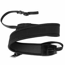 Black Adjusted Neoprene Neck Strap Belt for Canon Nikon Sony Pentax DSLR Camera