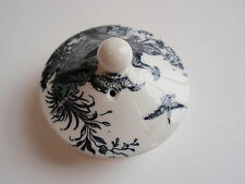 Vintage Wedgwood Black White Pheasant Transferware Teapot Lid Replacement Extra