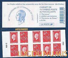 Carnet - 1513 - RGR - 2 - Type Les soixante de la Marianne de Dulac  N° 3744a 38