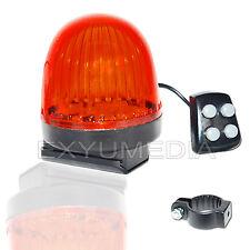 Laute Sirene mit 6 LED Fahrrad Alarm Blinklicht Glocke Rote Blink Leuchte Hupe