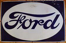 Antique FORD  Vintage Enamel Porcelain Advertising Sign ORIGINAL
