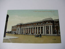 Lot29v - c1915 CANADIAN PACIFIC Railways Terminal Station VANCOUVER Postcard