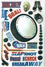 FC - Scrappin Sports & More - HOCKEY Rub-On Scrapbooking Crafts - Large Sheet