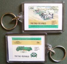 1930 BENTLEY 4.5L Supercharged Car Stamp Keyring (Auto 100 Automobile)