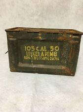 GENUINE US ARMY  105  CAL 50 Caliber Ammo Box Can M2 APIM8 Lot DM-L-20716