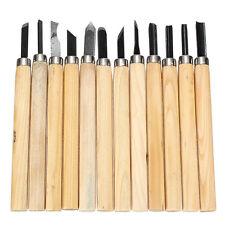 Pro Schnitzmesser Satz 12 teilig Holzgriff Schnitz Werkzeug Holz Bearbeitung Set