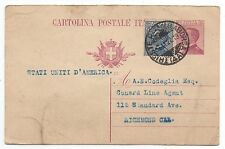 1922 Italy Trieste Postcard to US Cunard Line Steamship Co Agent re. Passports
