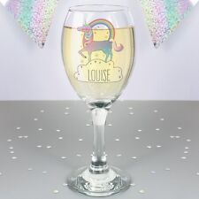 Personalised Unicorn Wine Glass Gift For Women 18th 21st 30th 40th Birthday