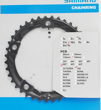 Shimano 105 FC-5703L Chainring 39T fits 50-39-30 crank 130mm BCD Triple Black
