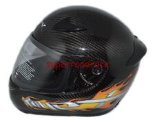 NEX FULL FACE MOTORCYCLE HELMET REAL CARBON FIBER DOT APPROVED MEDIUM ORANGE