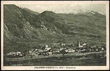 cartolina VALDIGNA D'AOSTA (m.920) panorama
