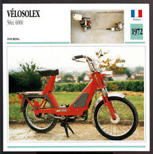 1972 Velosolex 50cc 6000 Scooter Moped Motorcycle Photo Spec Sheet Info Card