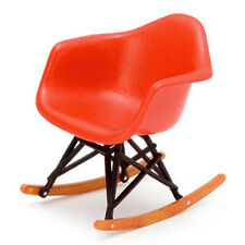 DOLLHOUSE MINIATURE Red Eames Rocker Modern Mid Century Chair  1:12  NEW!