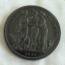 WILLIAM IIII 1835 BRONZED COPPER PROOF PATTERN THREE GRACES CROWN