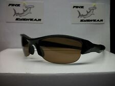 FINZ POLARIZED SPORTS GOLF FISHING SUNGLASSES BLACK / AMBER LENS........AWESOME