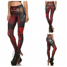 Mujer señora Deadpool Cosplay Ajustado Elástico Fitness Pantalones Leggings