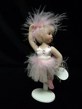 Porcelain Ballerina Doll With Stand ~by Delton ~ Pink ~ # 480