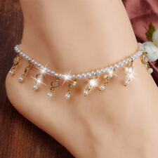 Women Barefoot Sandal fashion Anklet Crystal Tassel Ankle Bracelet Foot Chain