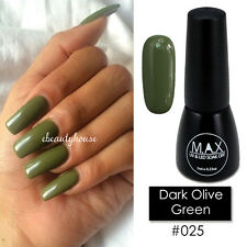 MAX 7ml Nail Art Color UV LED Soak Off Gel Polish #025-Dark Olive Green