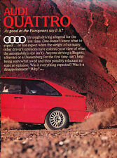 1982 Audi Quattro Road Test Vintage Classic  Car Print  Article