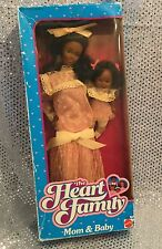 VINTAGE BARBIE HEART FAMILY MOM & BABY 1984  AA DOLLS MATTEL # 9718 NRFB