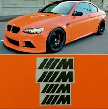 BMW M Series Brake Caliper HIGT TEMPERATURE Decal Sticker Set of 4 (Black)