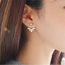 Fashion Jewellery Crystal Rose Gold Quality Leaf Ear Clips Earring for women