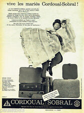 PUBLICITE ADVERTISING 125  1960  les bagages valises Cordoual Sobral