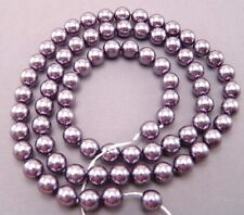 Czech 8mm Glass Beads Pearls Storm C157 Round Shiny