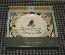 Paula Deen At Home Home for the Holidays Best Wishes Plate Collectors Series NEW