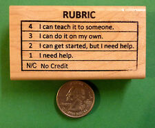 Proficiency Rubric 4321NC, Teacher's Wood Mounted Rubber Stamp