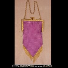 1920-30s Mandalian Purple Chain Mail Mesh Purse / Bag Art Nouveau