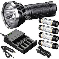 Fenix TK75 2015 CREE LED 4000 lumen flashlight w/ 4X Fenix 18650 batteries Chrgr