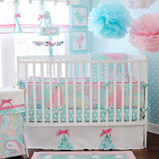 My Baby Sam Pixie Baby in Aqua 3-piece Crib Bedding Set