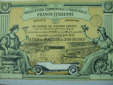 action automobile franco italienne  commerciale industrielle 1923 28  nice