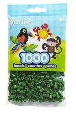 1000 Perler Dark Green Color Iron On Fuse Beads  80-19010